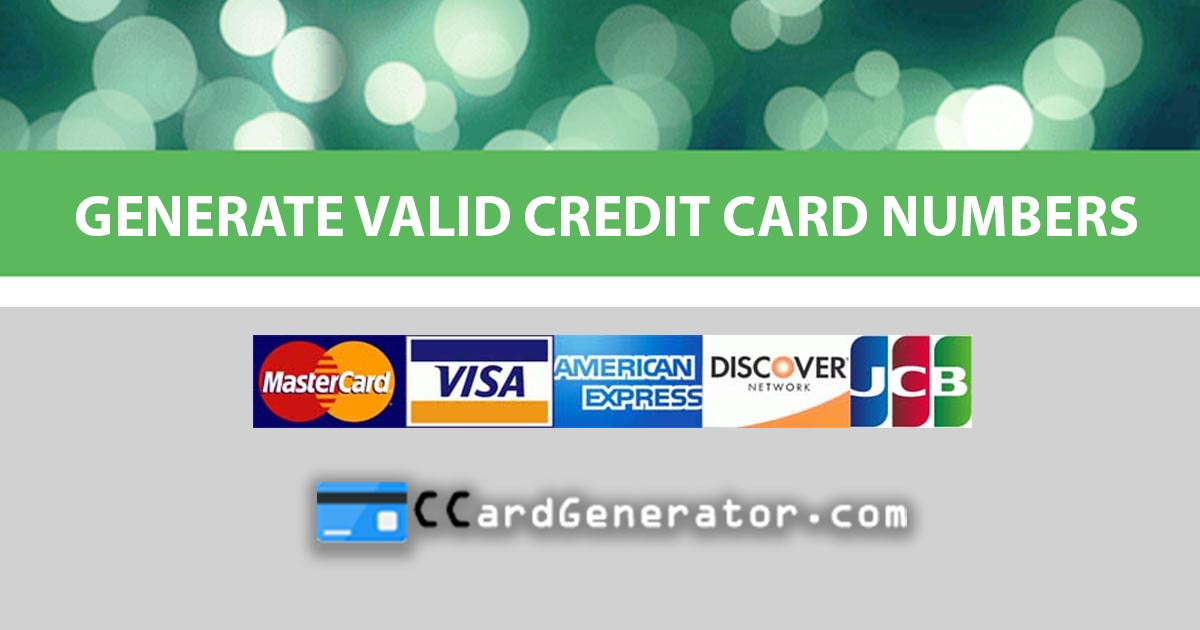Valid Credit Card Generator and Validator